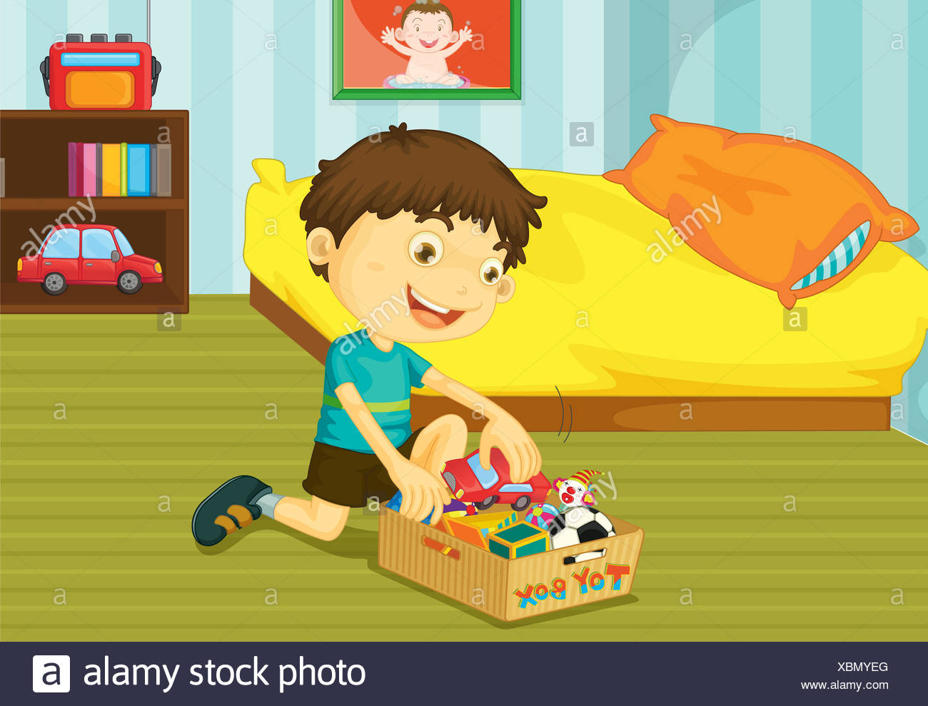 Messy Living Room Tidying Toys Stock Photos Amp Tidying Toys Stock Images Alamy