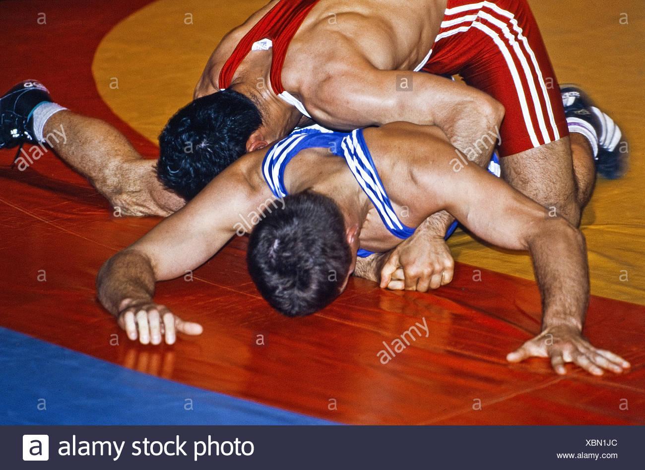 Wrestling KSV Witten 07, Witten, Germany - Stock Image