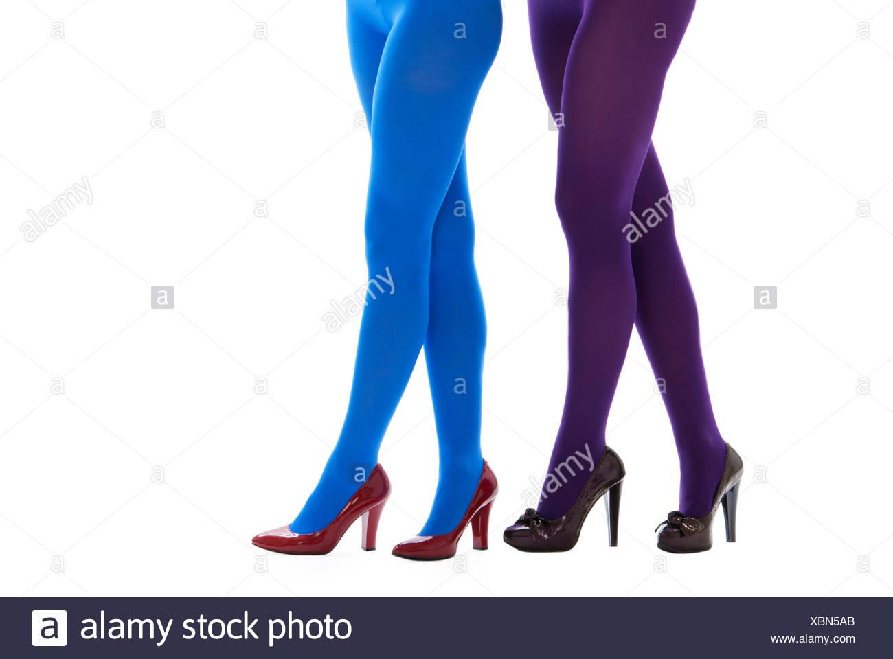 66461f024f6fd Blue Stockings Tights Stock Photos & Blue Stockings Tights Stock ...