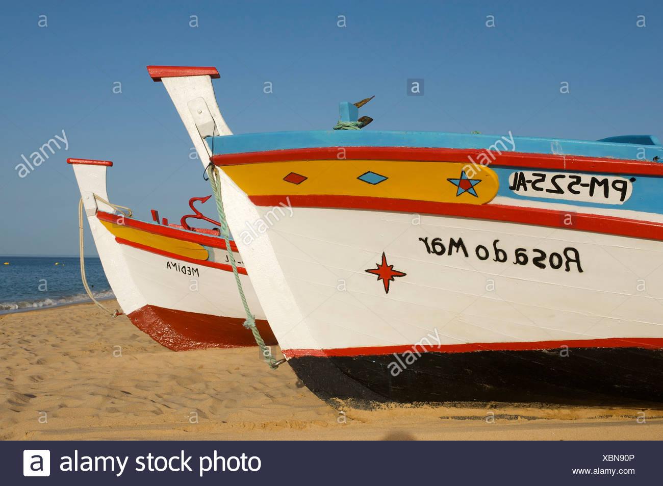 Fishing boats, Armacao de Pera, Algarve, Portugal - Stock Image