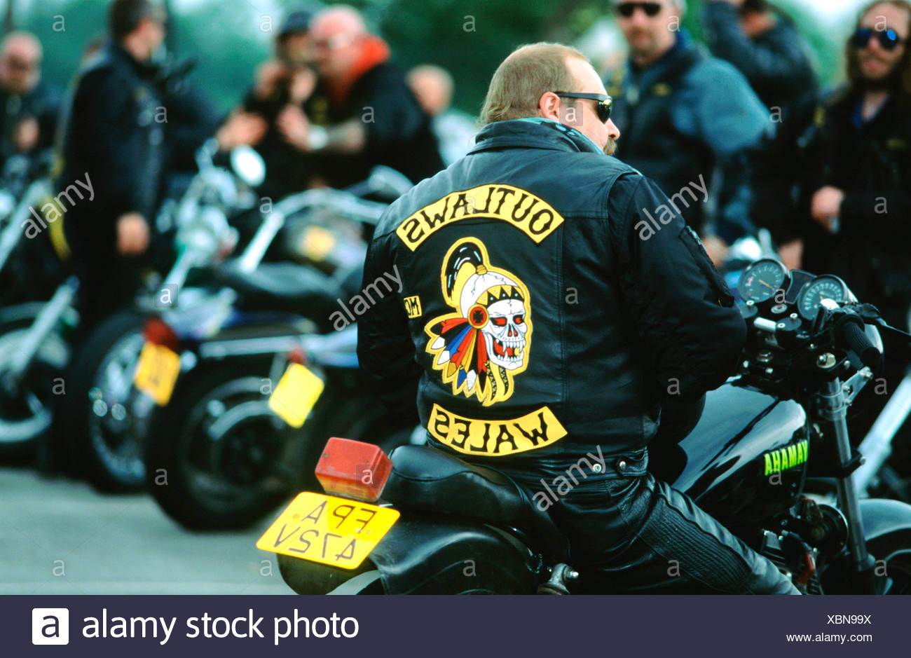 Outlaws Motorcycle Gang Stock Photos & Outlaws Motorcycle