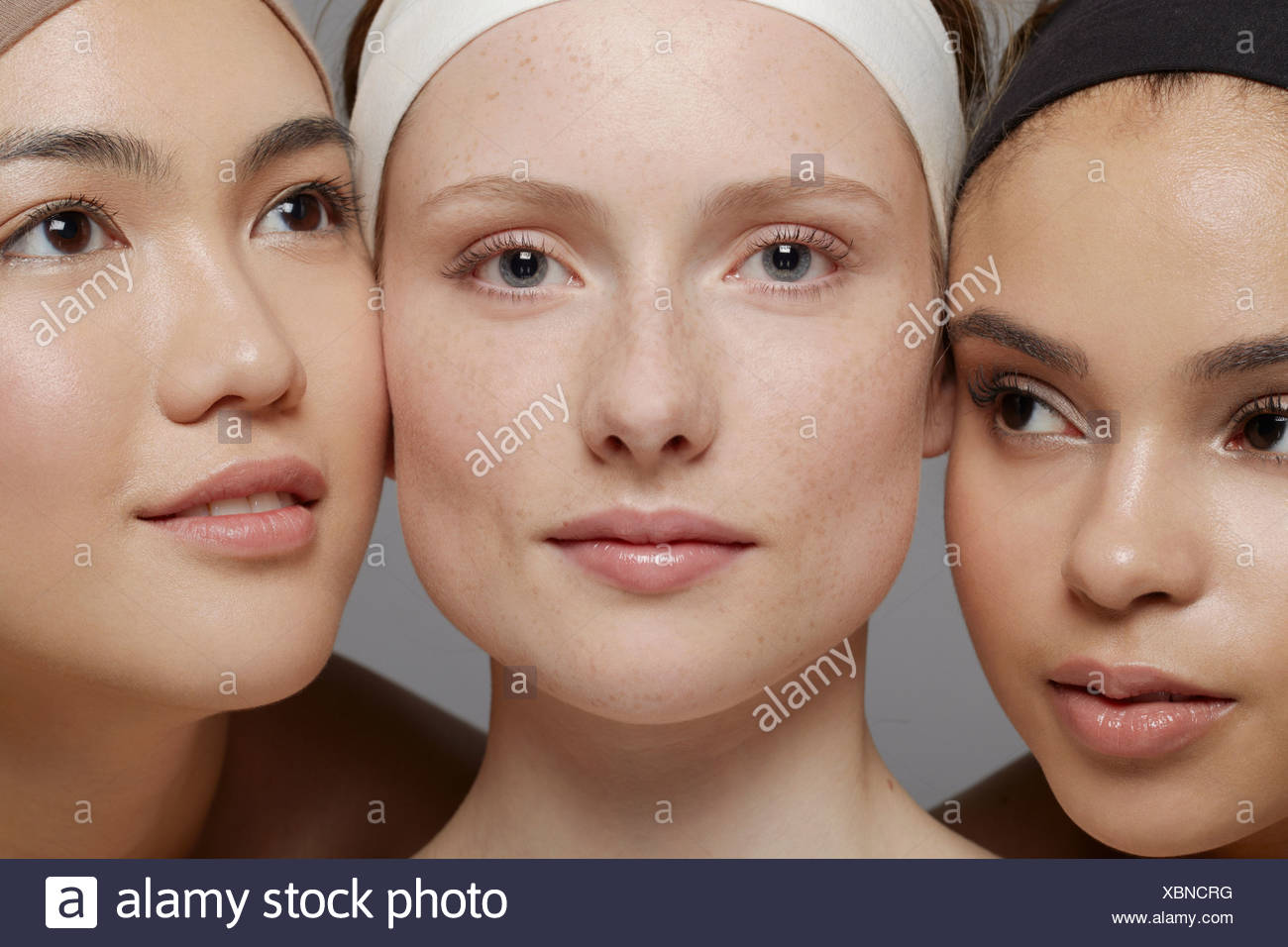 Beauty portrait of three young women Stock Photo