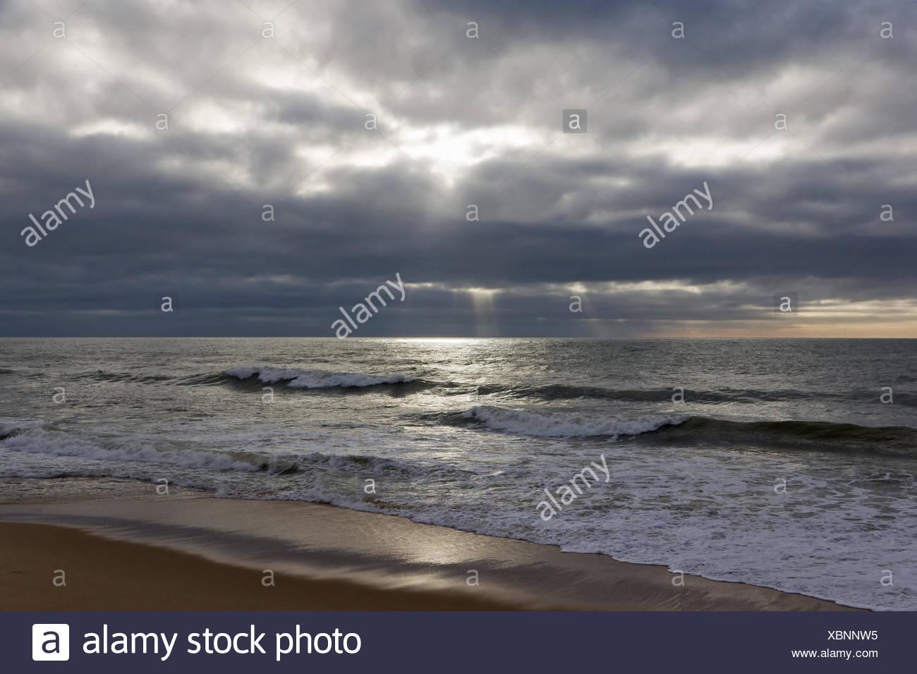 Beach in Albufeira Stock Photo