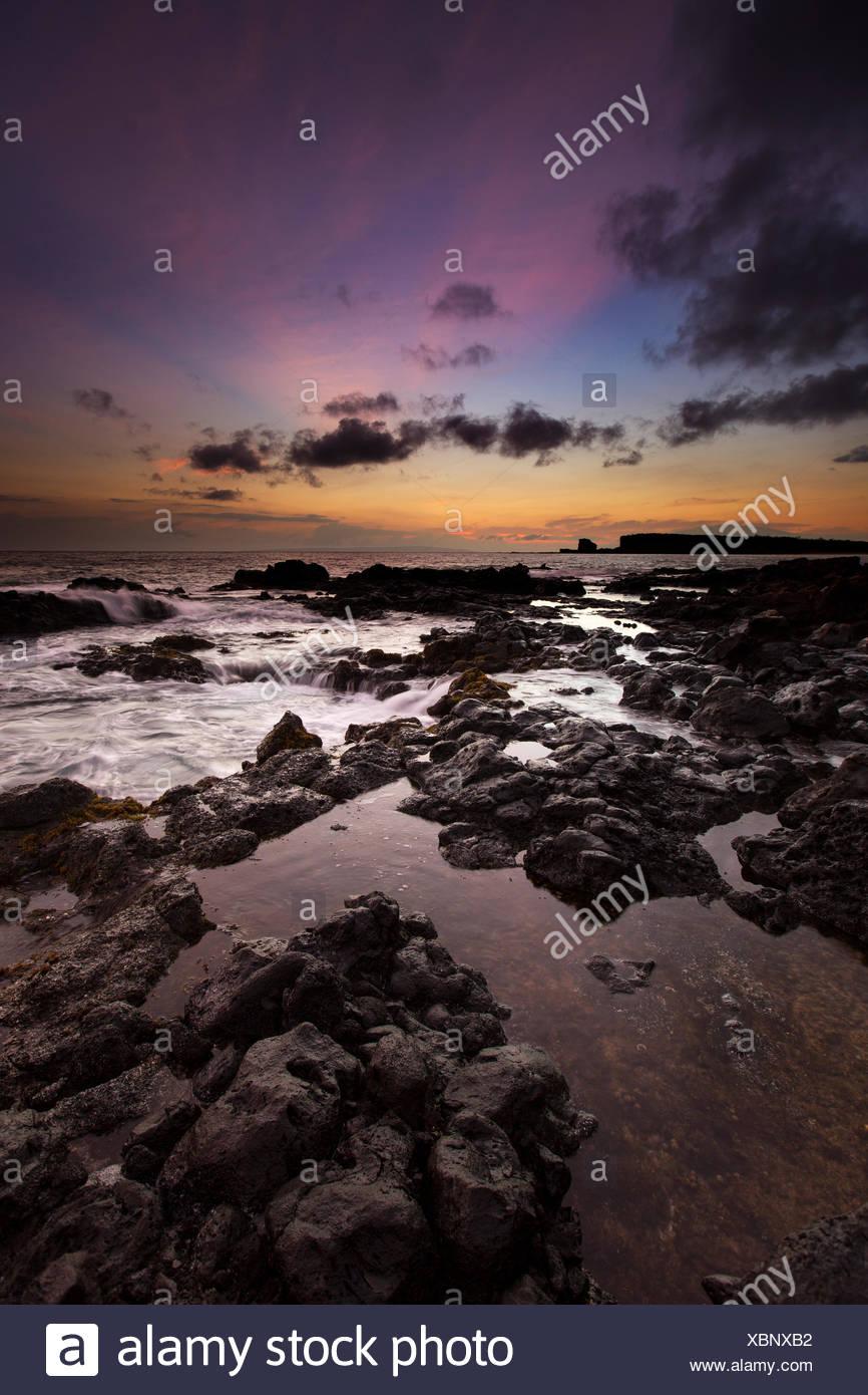 Tidepools at Kapiha`a, Lana`i, Hawai`i - Stock Image