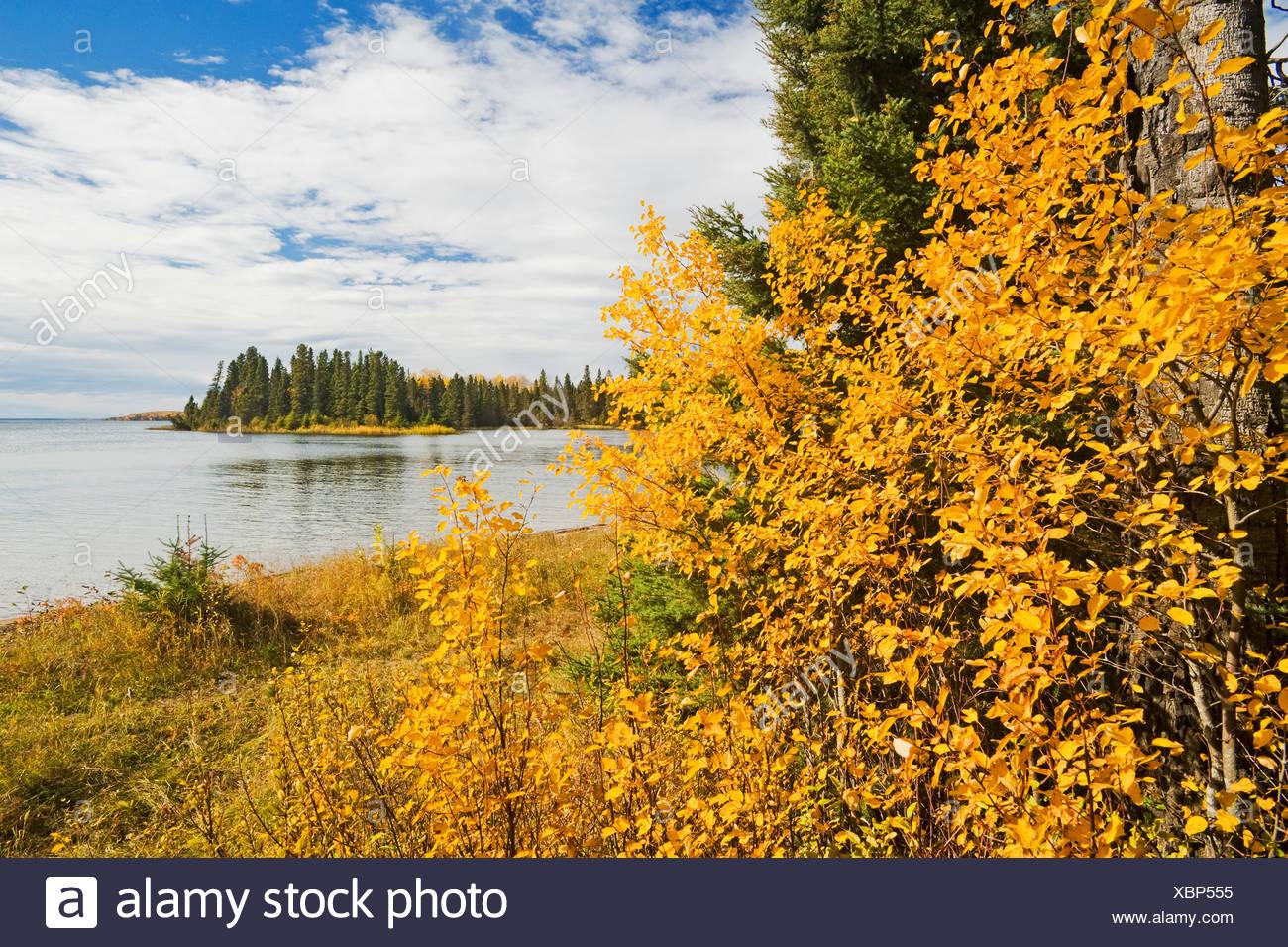 Waskasiu Lake, Prince Albert National Park, Saskatchewan, Canada - Stock Image