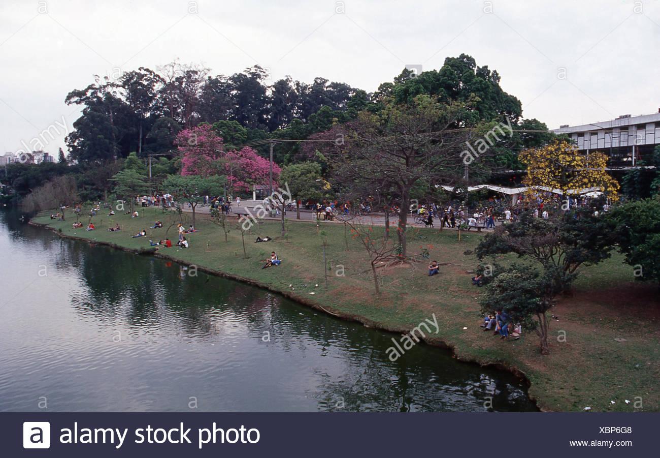 Ibirapuera Park, Sao Paulo, Brazil Stock Photo