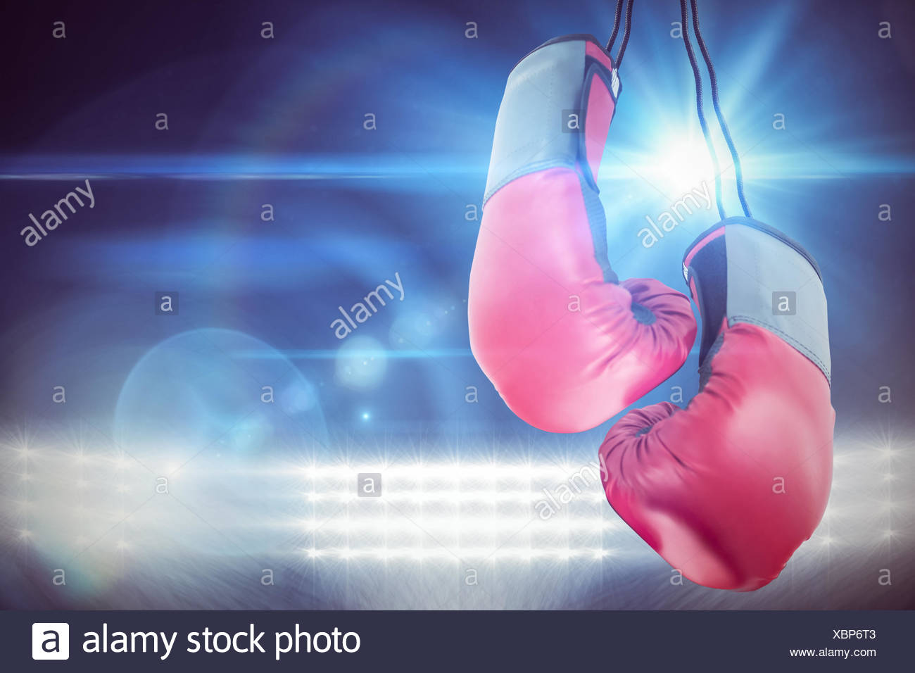 Boxing gloves attached - Stock Image