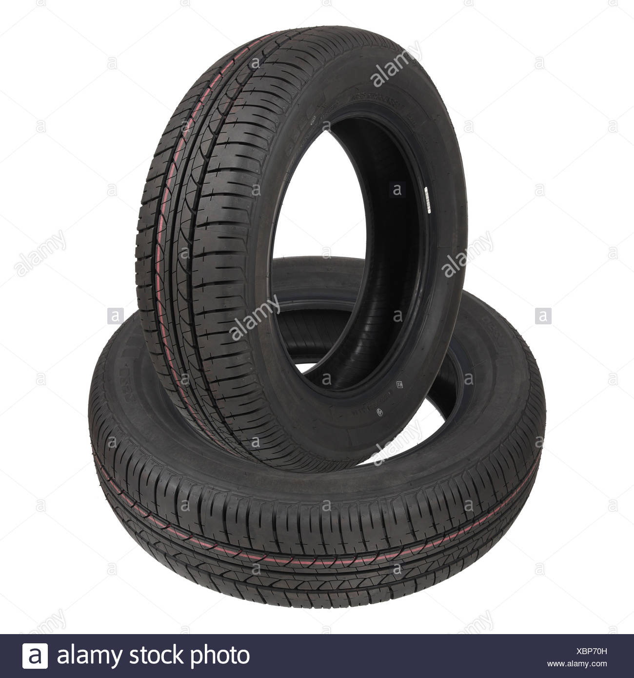 two tyres - Stock Image