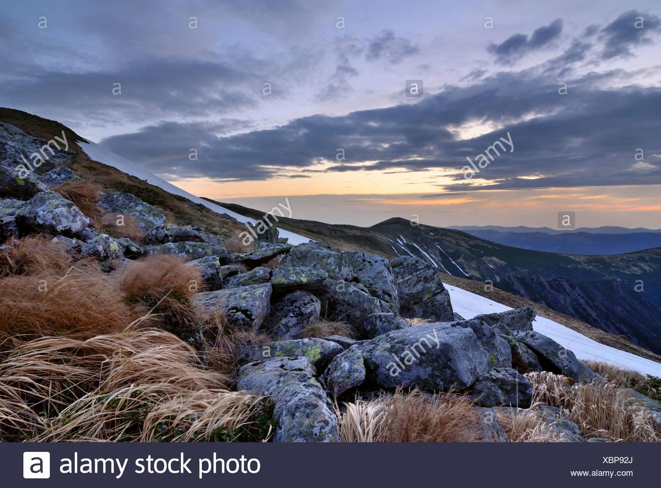 Chornogora Ridge in the Carpathian Mountains - Stock Image