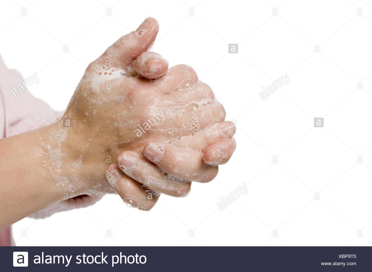 hand washing Stock Photo