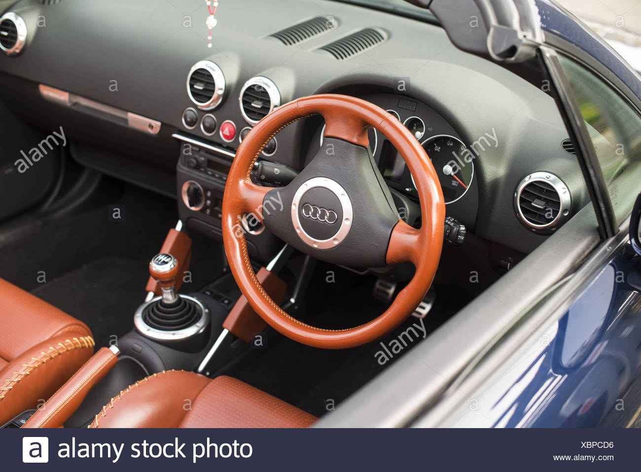 Interior Of An Audi Convertible Auto Stock Photo Alamy