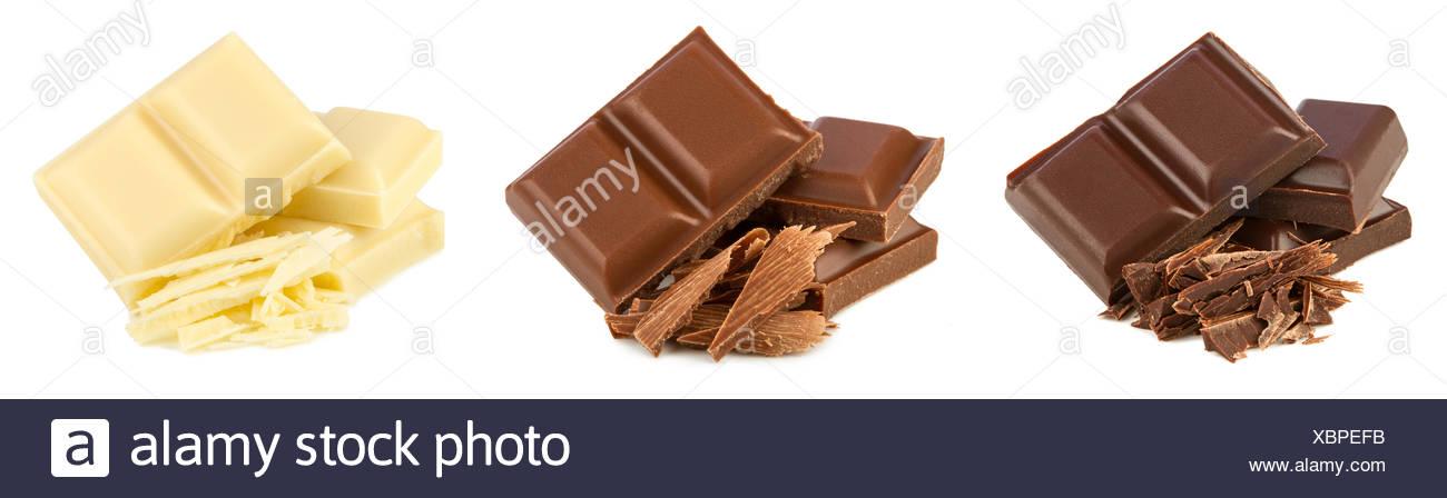 chocolate set - Stock Image