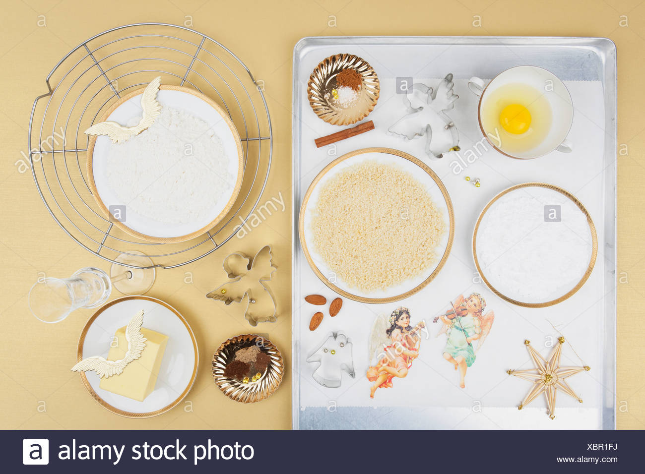 Ingredients For Christmas Angel Cookies Stock Photo 282633222 Alamy