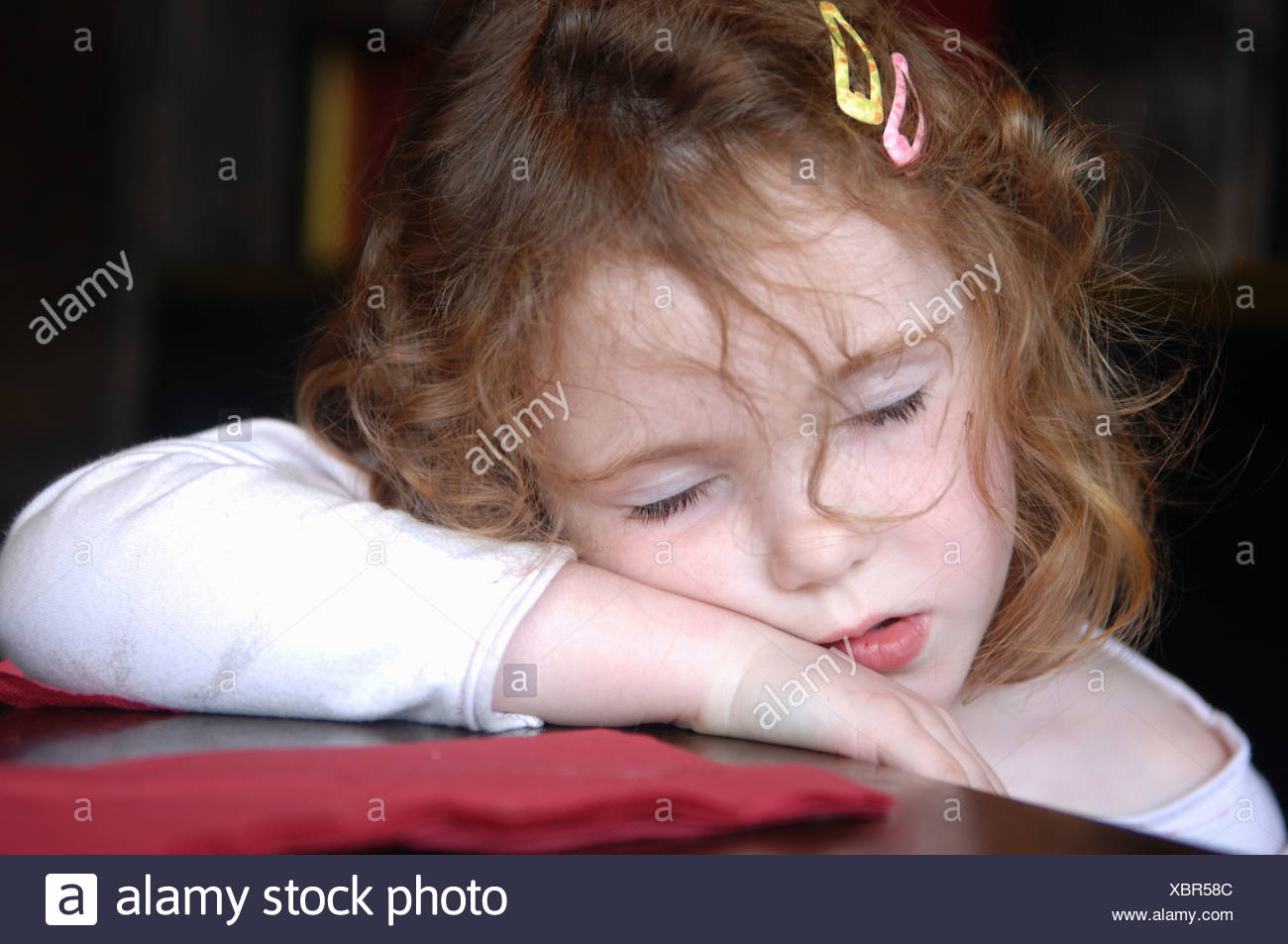 Exhausted - Stock Image