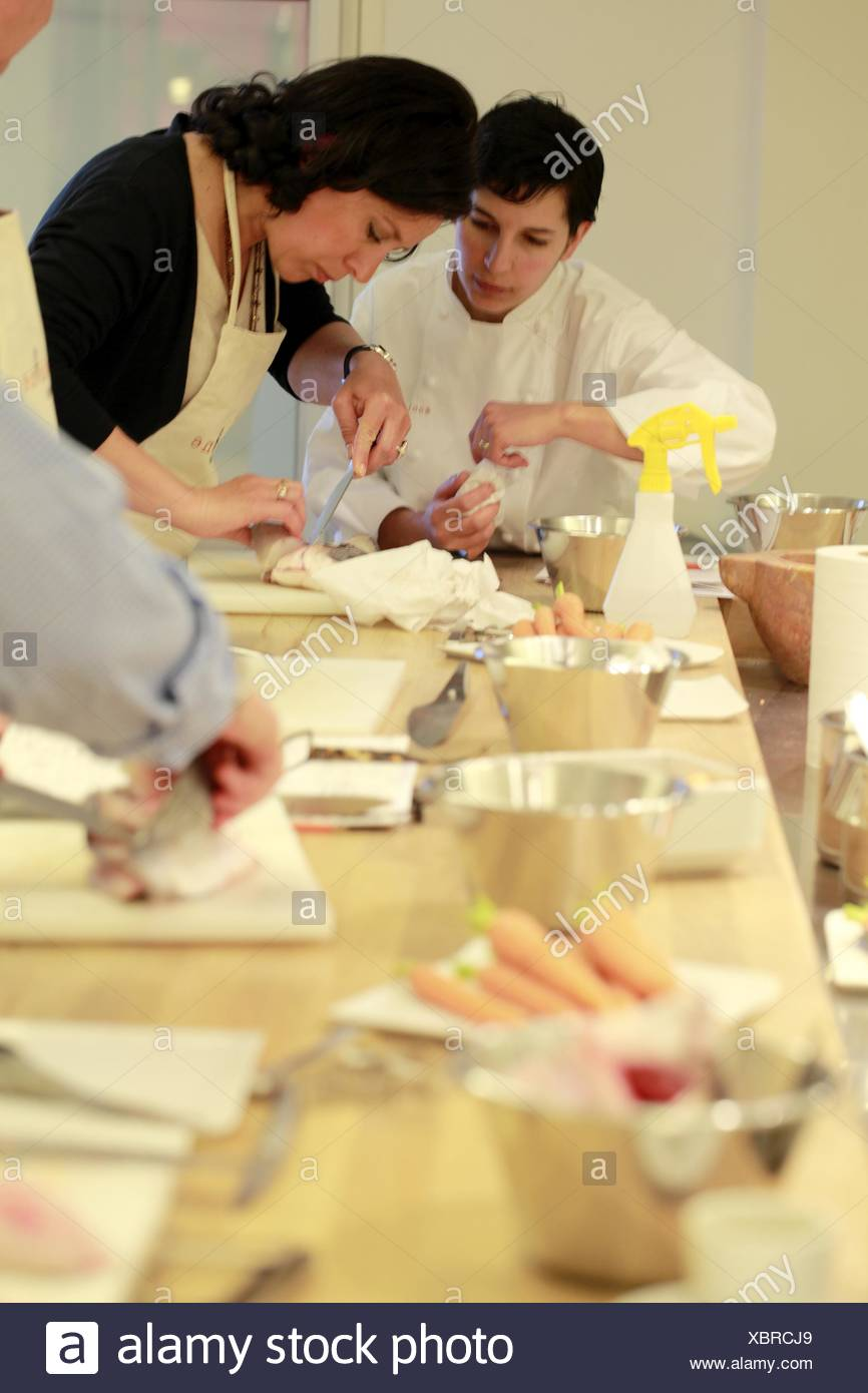Alain Ducasee Trained Chef Sabrina Zoli Helping Her Students In