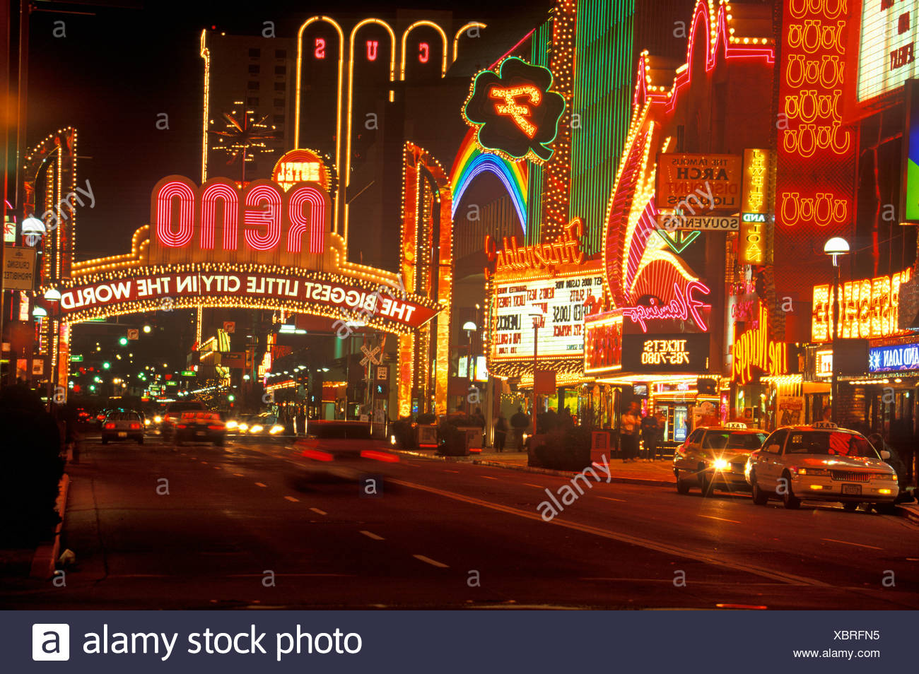 neon lights at night in reno nv stock photo 282644353 alamy