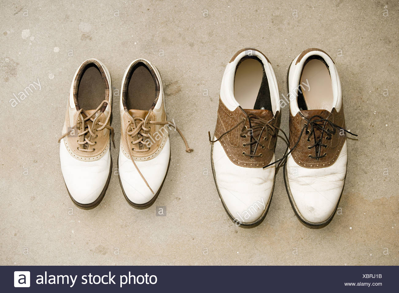 Two pairs of shoes - Stock Image