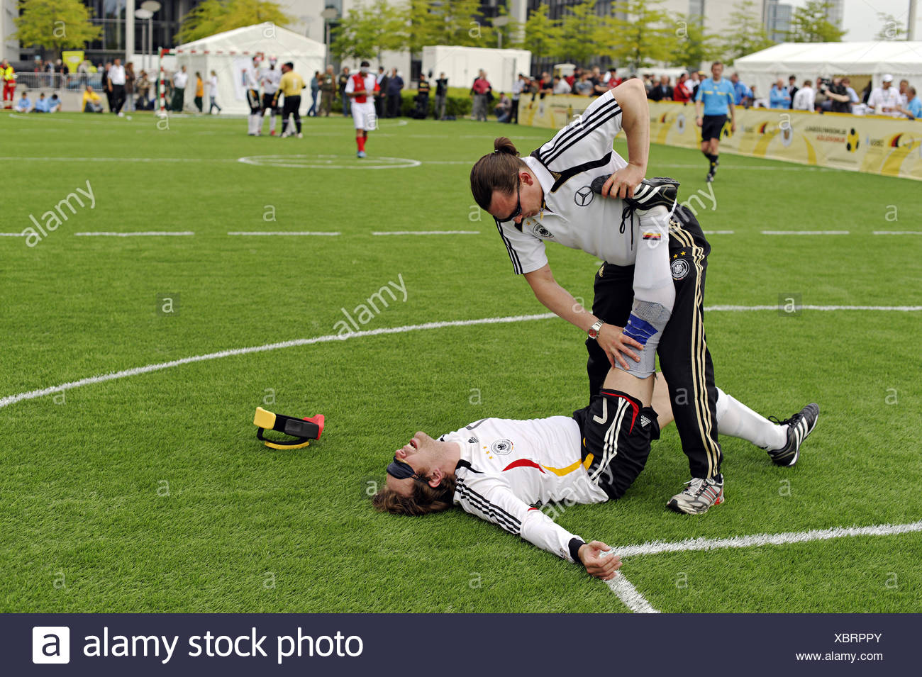 Day of Blind Football, Berlin, Germany - Stock Image