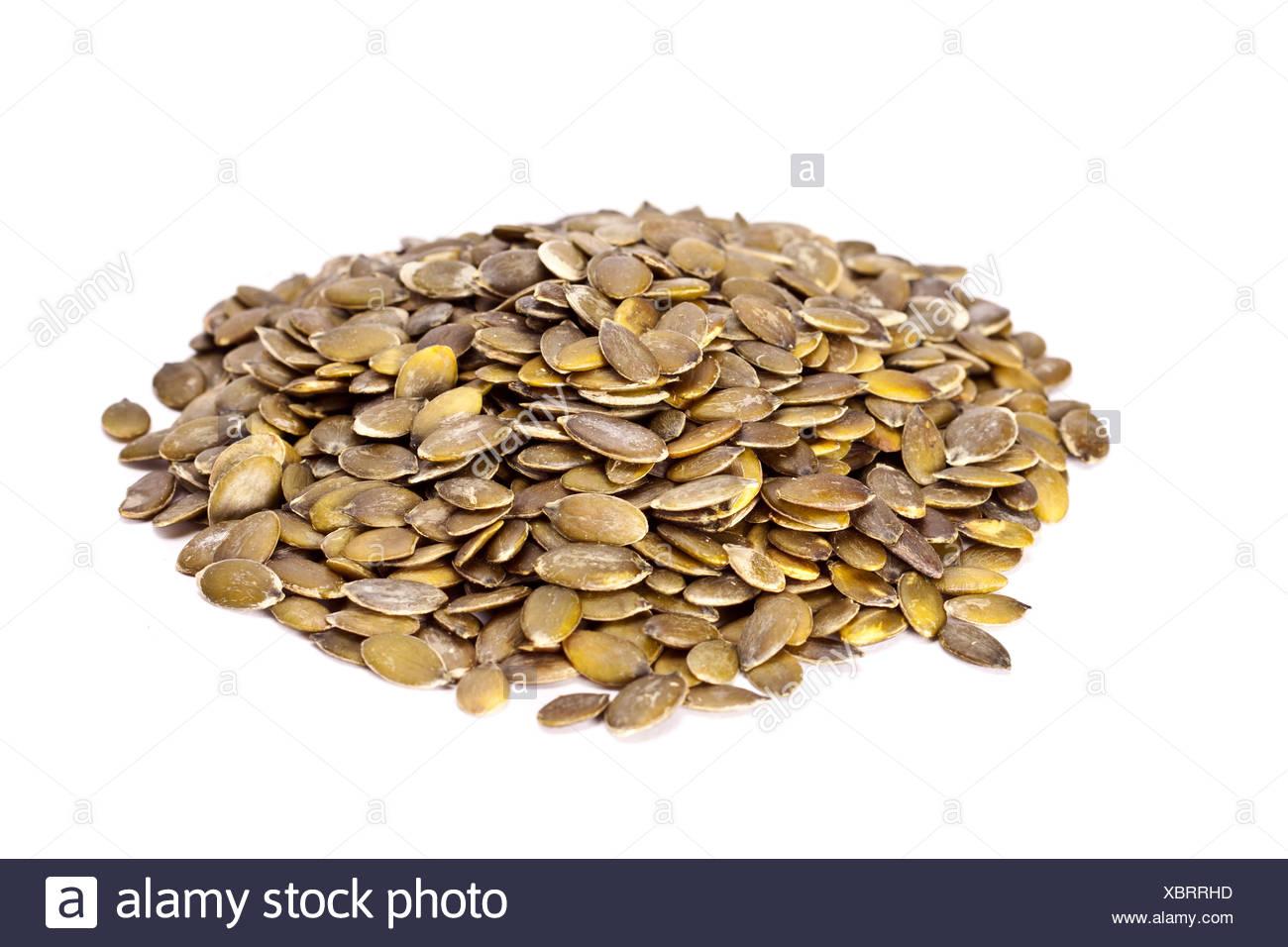 Dried pumpkin seeds. Stock Photo