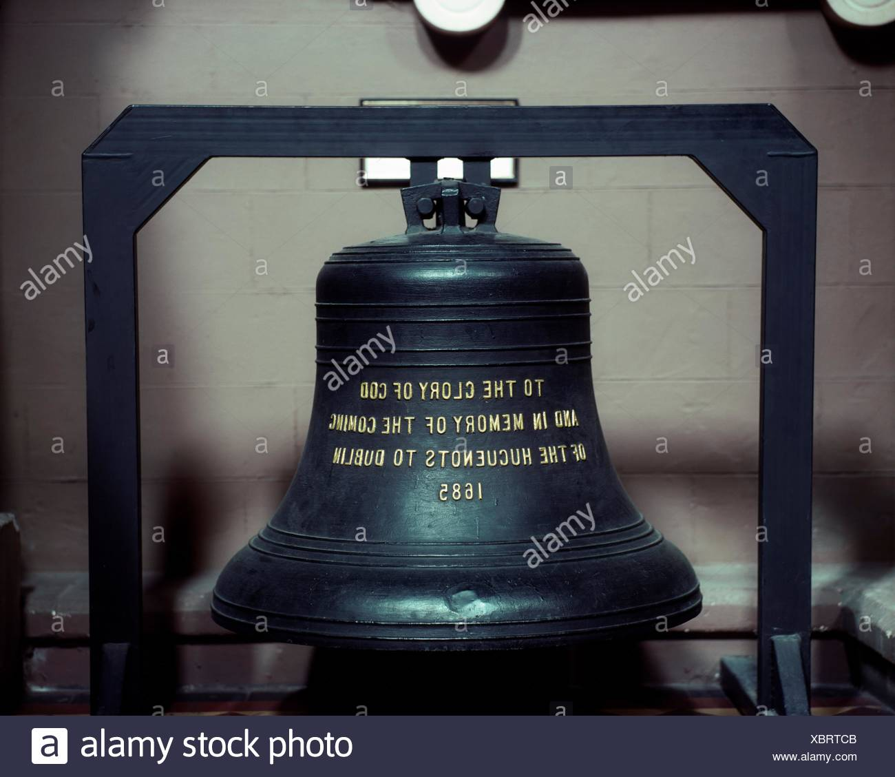 Huguenot Bell, St. Patrick's Cathedral, Dublin, Co Dublin, Ireland; 12Th Century Cathedral - Stock Image