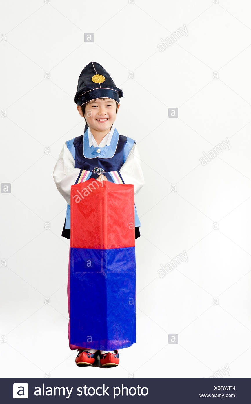Korean Boy Traditional Dress High Resolution Stock Photography and