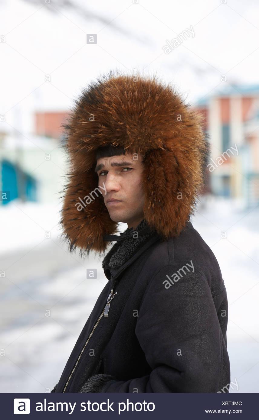 7e41bd786db Man Wearing Russian Hat Russian Stock Photos   Man Wearing Russian ...