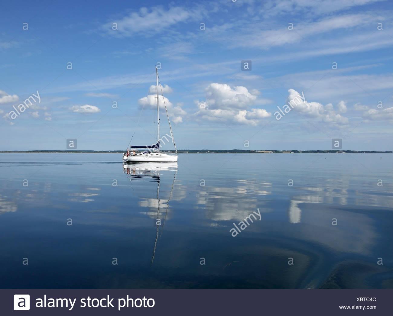calmness at limfjorden, nordjylland, denmark - Stock Image
