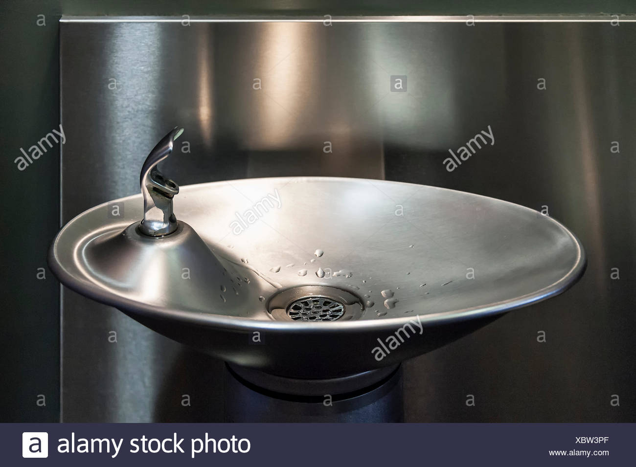 Modern design water fountain. - Stock Image