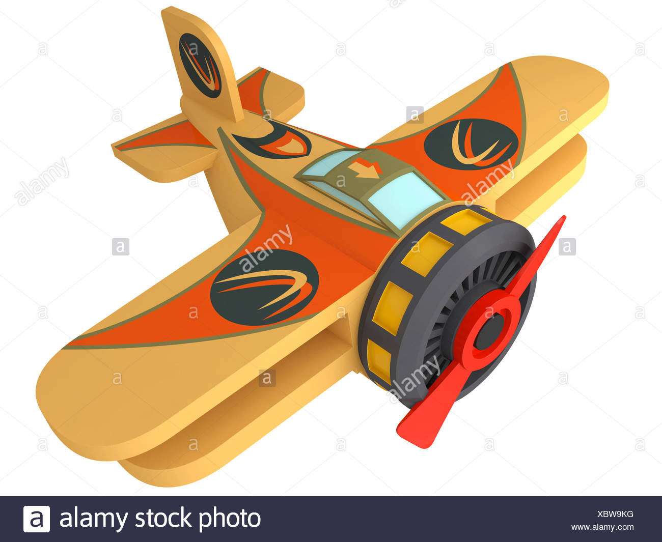 Model of the toy plane - Stock Image