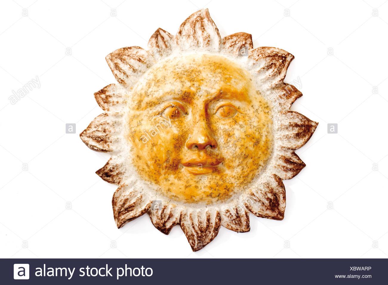 Sun, wall ornament, ceramics Stock Photo: 282684410 - Alamy