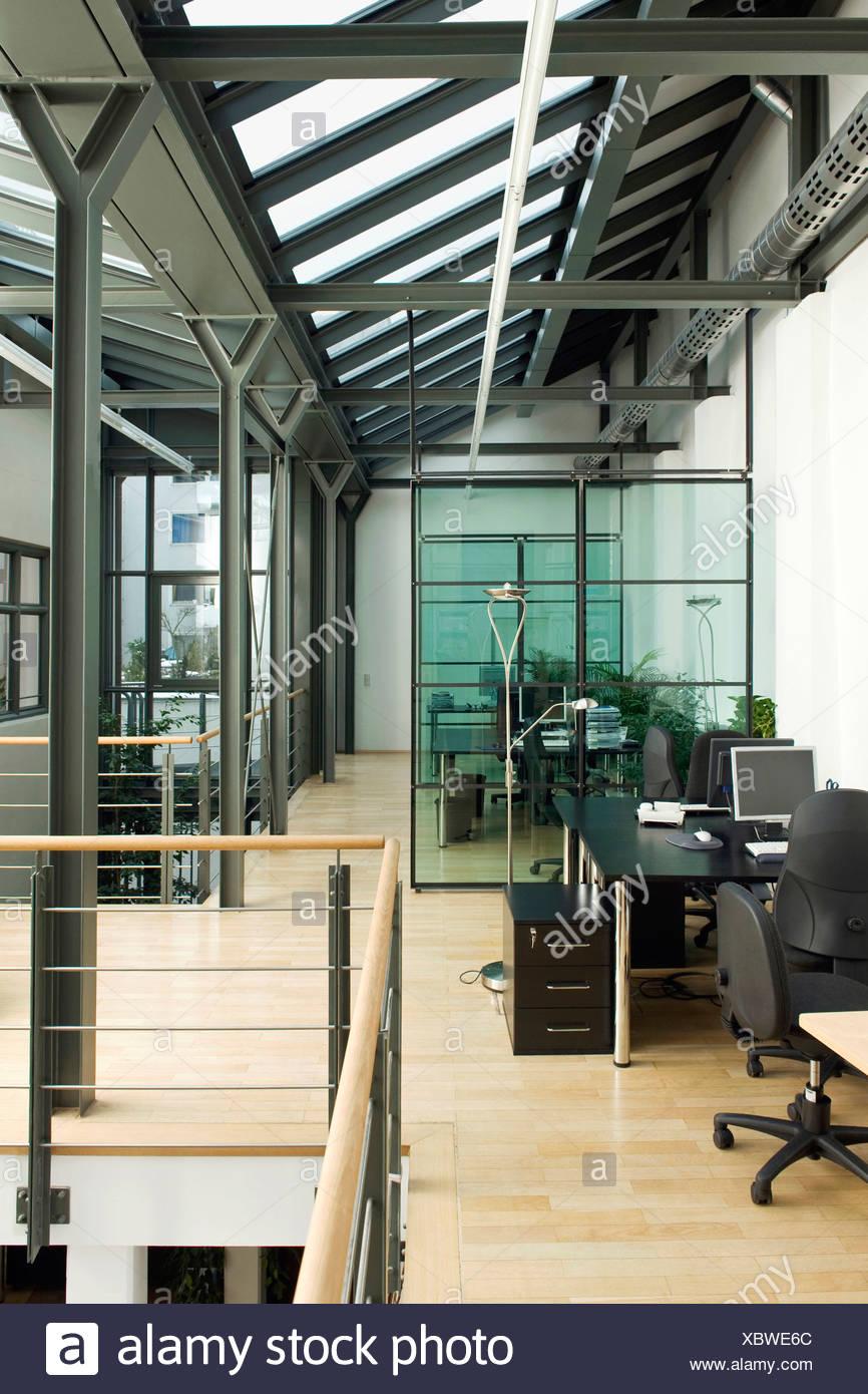 Germany, Munich, Open plan office - Stock Image