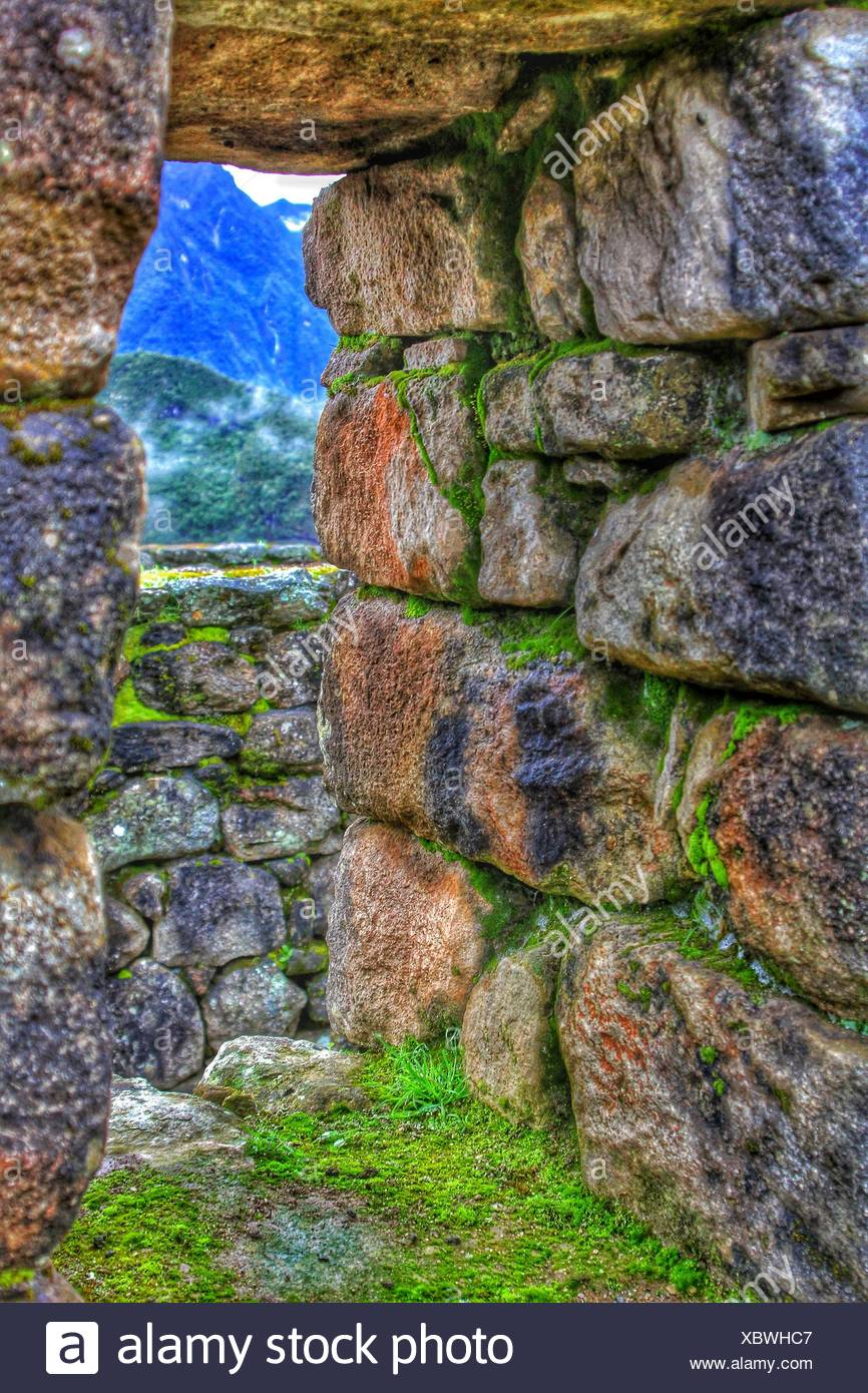 A view from Machu Picchu - Stock Image