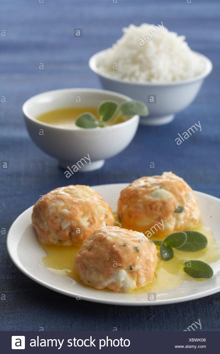 Salmon balls - Stock Image