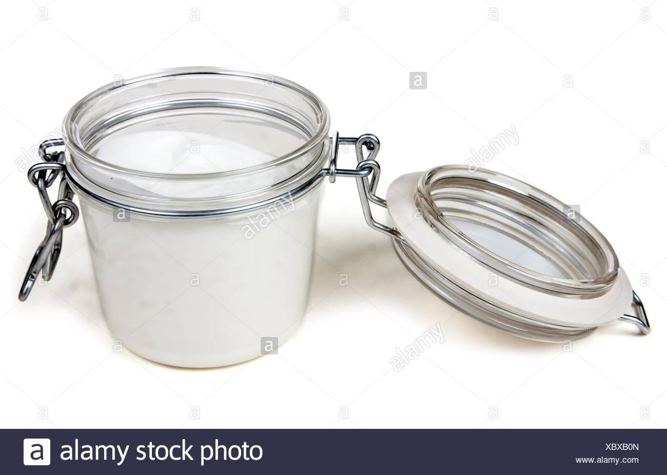 jar of cream with a steel lock Stock Photo: 282706501 - Alamy