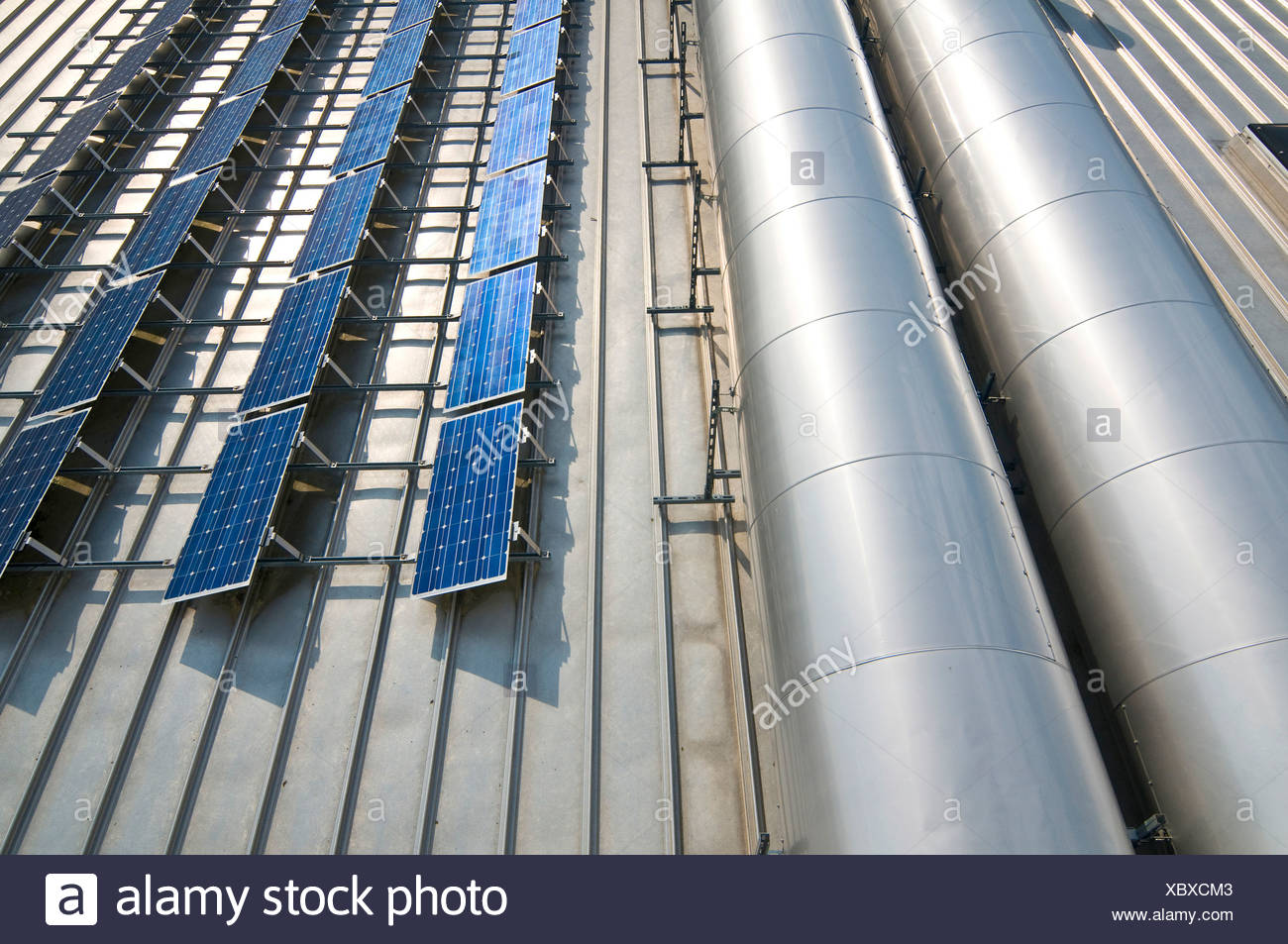 Large solar energy system - Stock Image