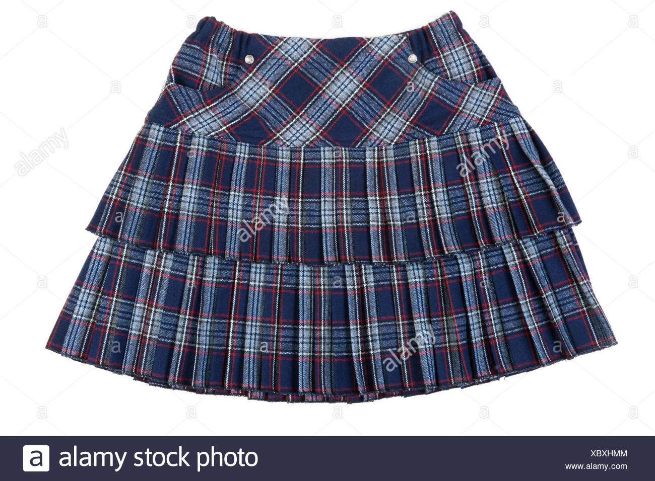 skirt, blue, single, isolated, fashion, small, tiny, little, short, mini, one, - Stock Image