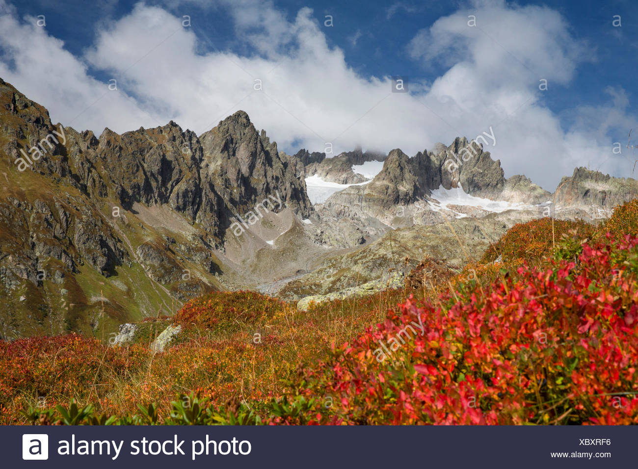 5 finger floor, Wendelhorn, Susten Pass, clouds, cloud, canton Bern, Switzerland, Europe, - Stock Image