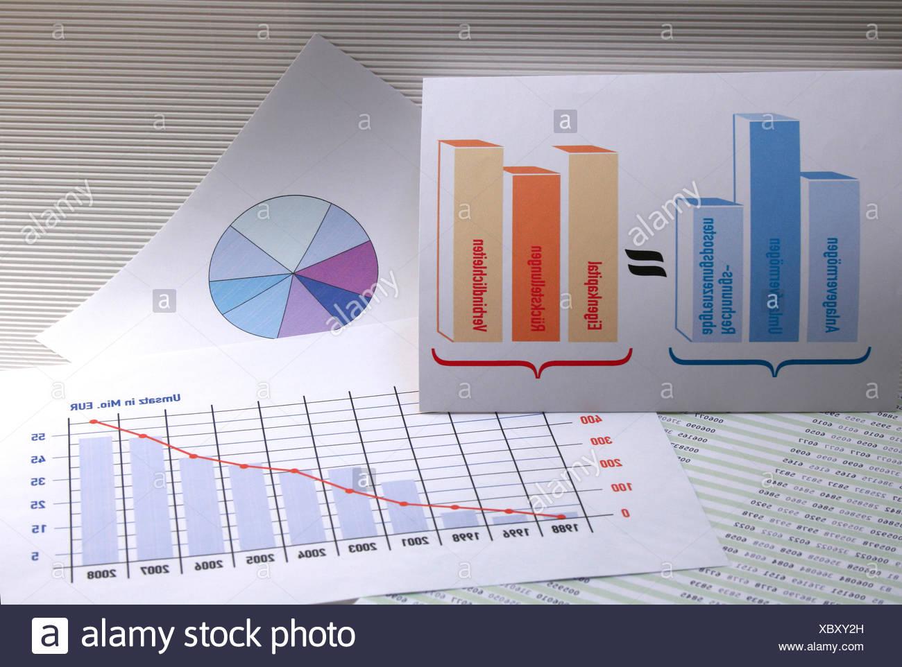 loss undertaking balance sheet Stock Photo
