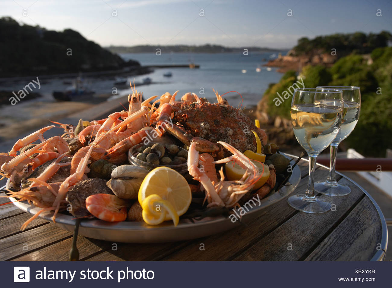 Seafood platter in Brittany - Stock Image