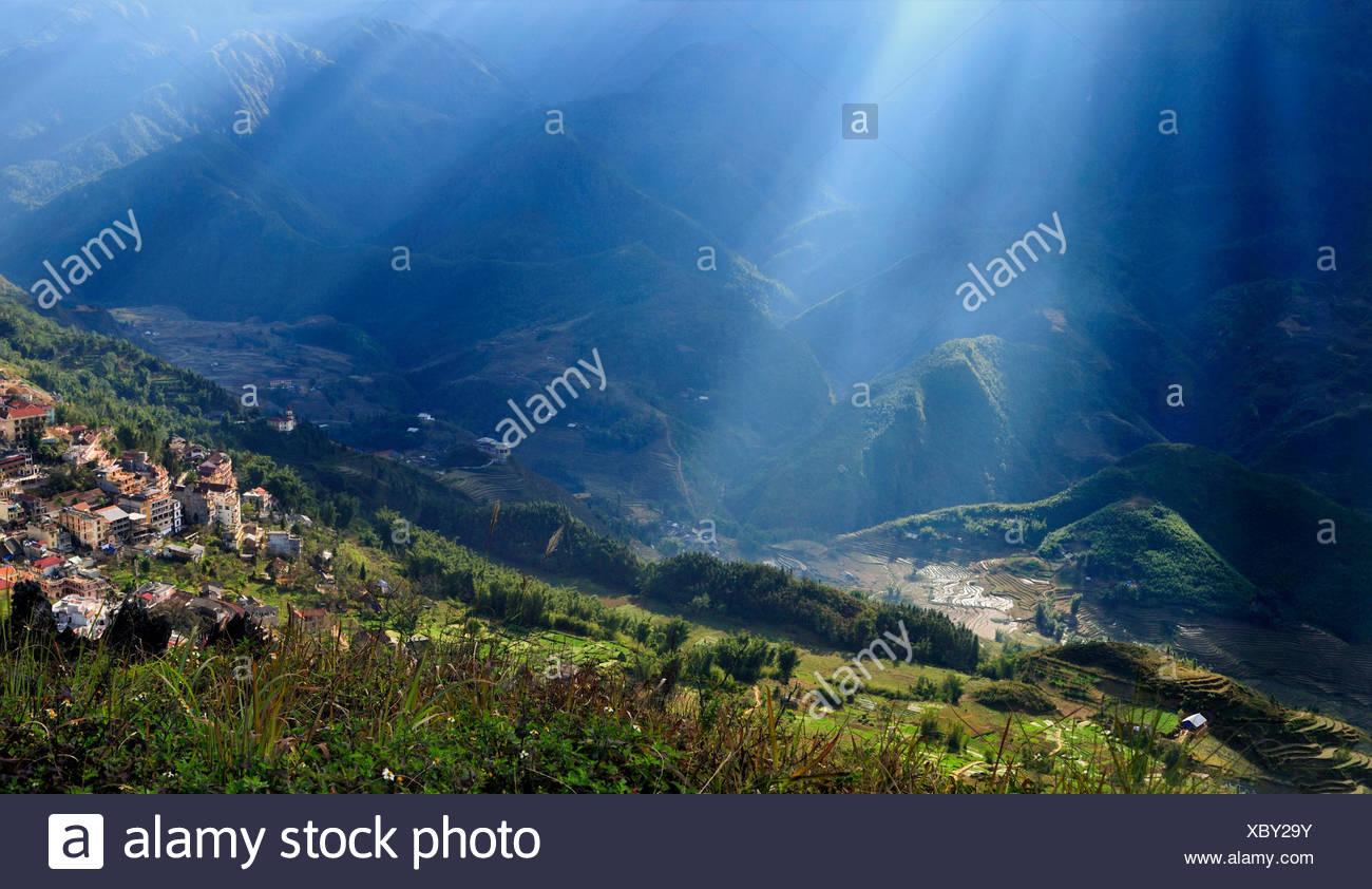 Region around Sapa or Sa Pa, northern Vietnam, Vietnam, Asia - Stock Image