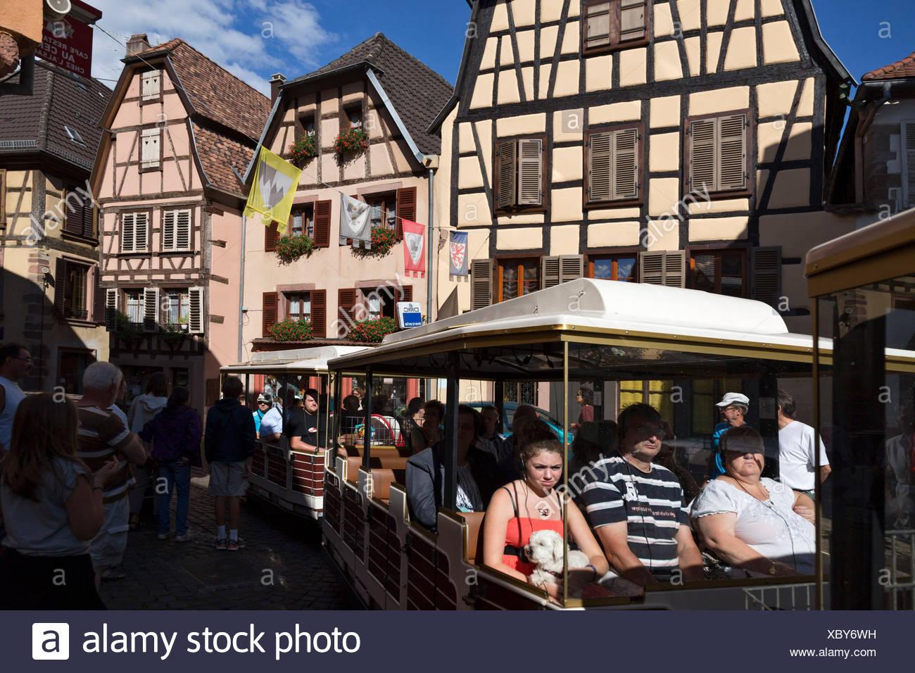 Rebeauvillé,Alsace, France. Typical alsatian houses - Stock Image