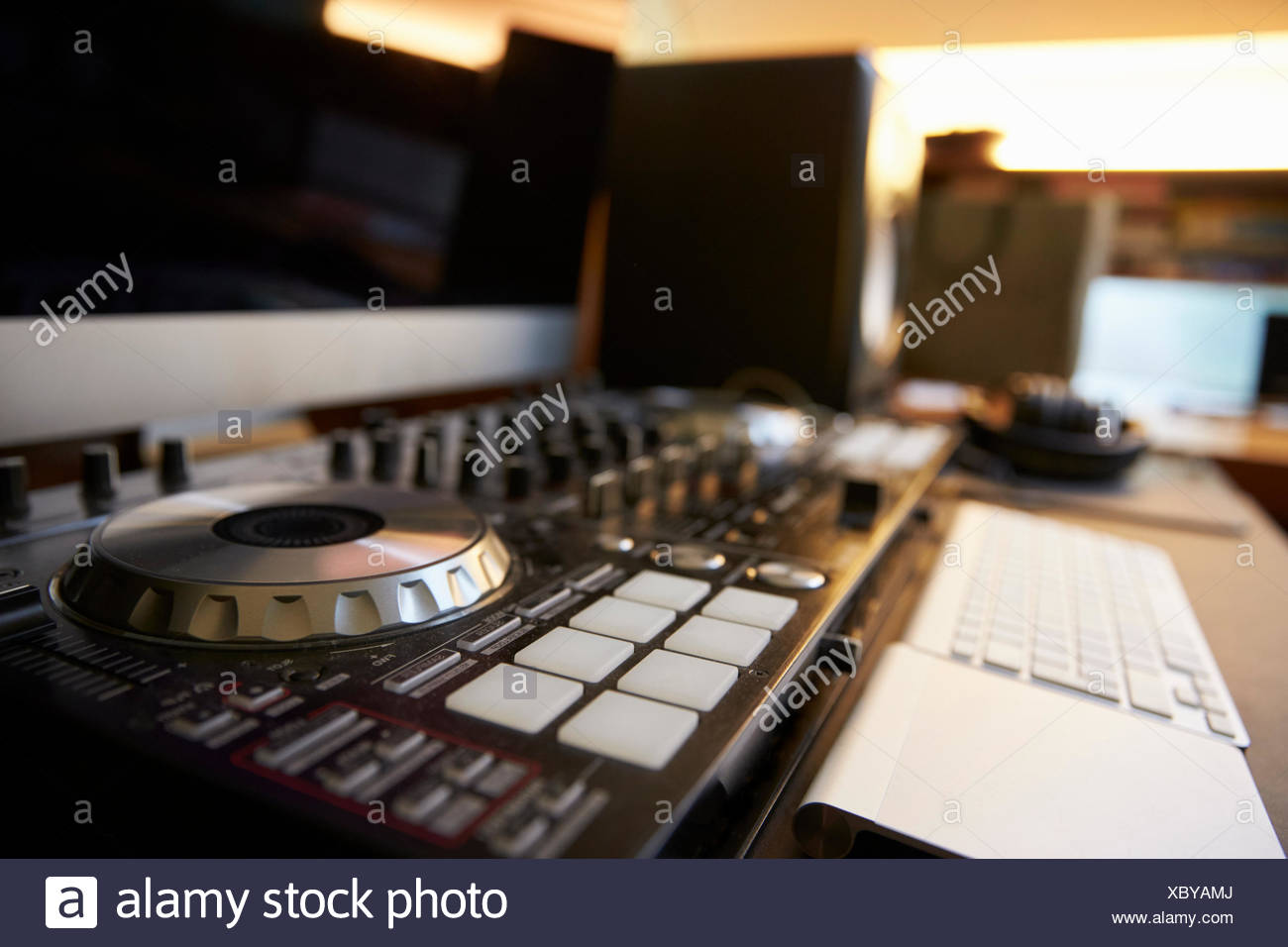 Close up of DJ Decks - Stock Image