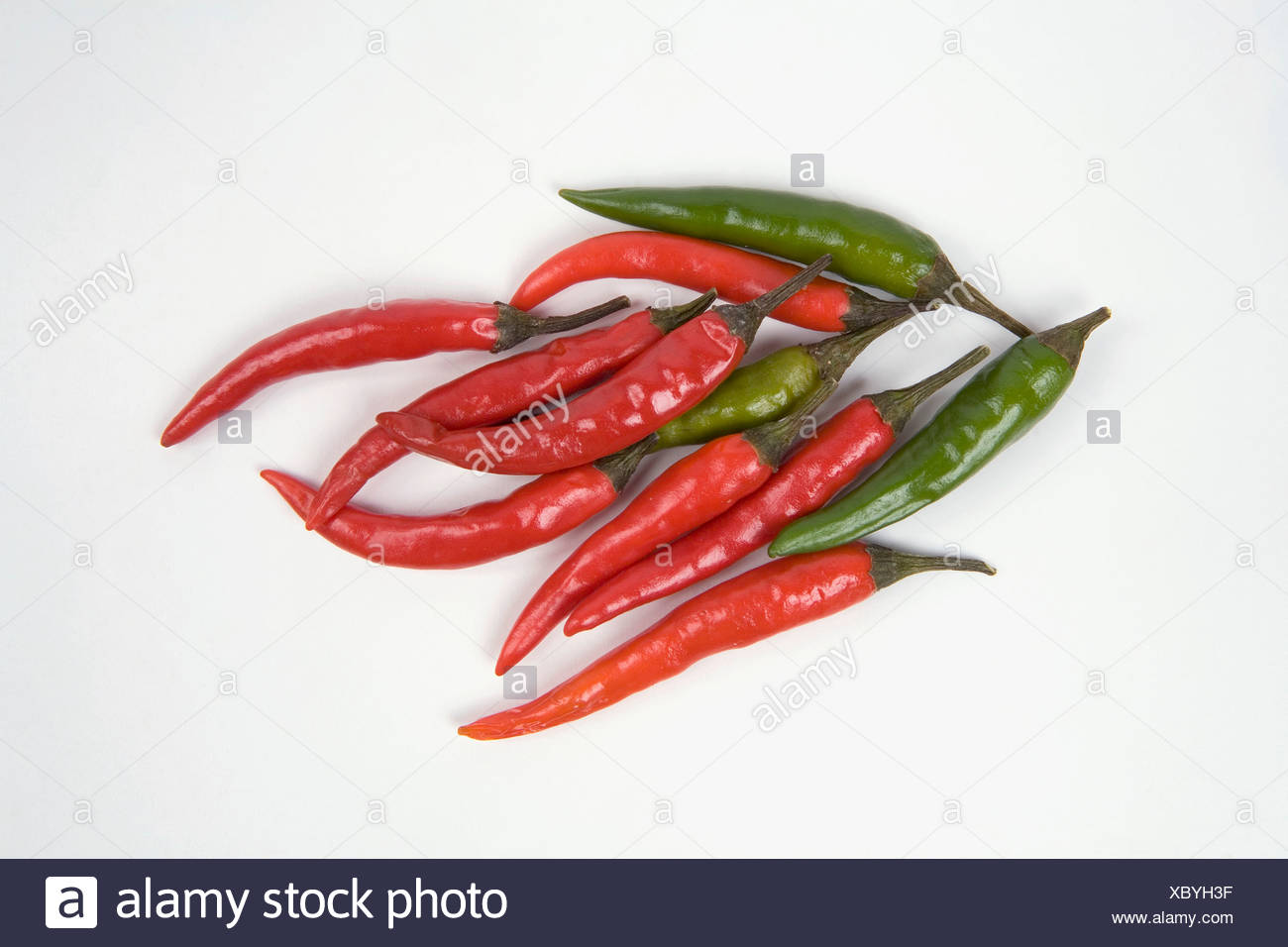 Close-up of Thai chilli peppers - Stock Image