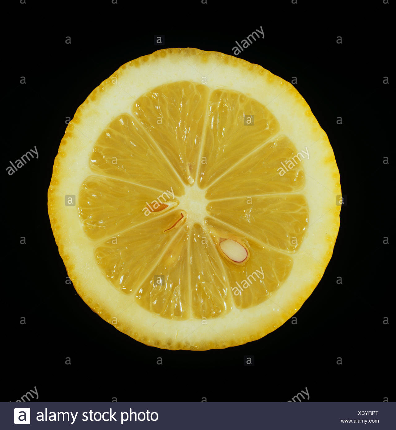 Cut section of a citrus fruit lemon variety Lamas Stock Photo