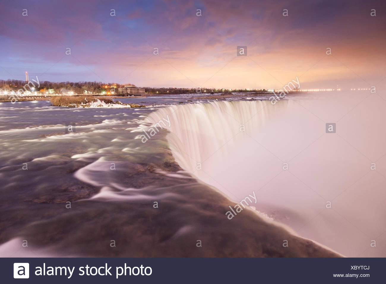 Canadian Horseshoe Falls, Niagara Falls, Queen Victoria Park, Ontario - Stock Image