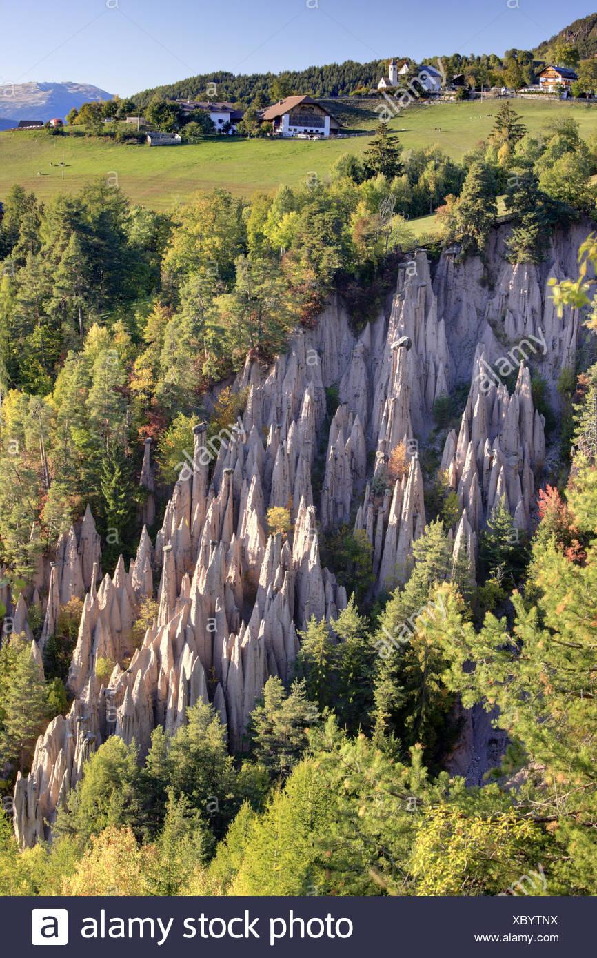 Italy, South Tirol, to rides, earth pyramids, - Stock Image