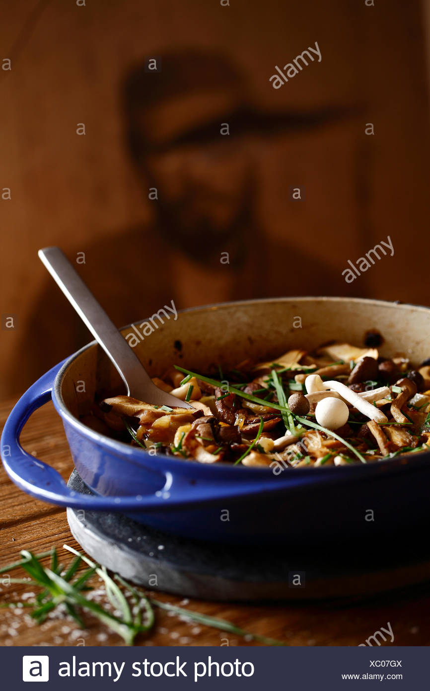 Casserole with Mushroom Stew - Stock Image