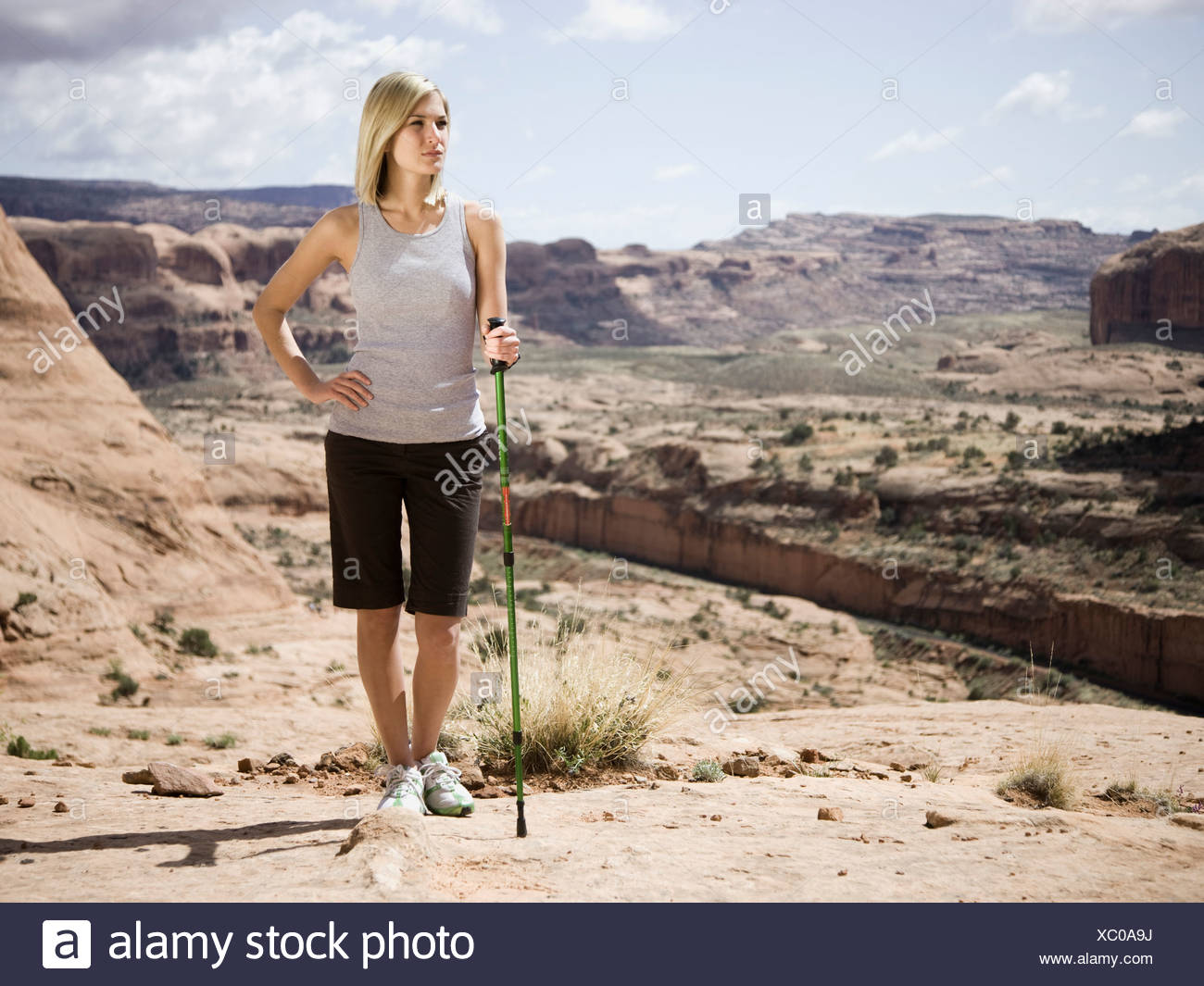 woman in the desert - Stock Image