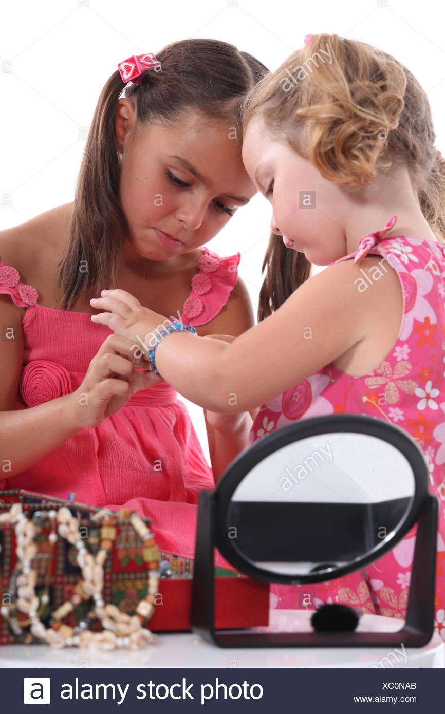 jewelry, jewellery, small, tiny, little, short, girl, girls, child, children, Stock Photo