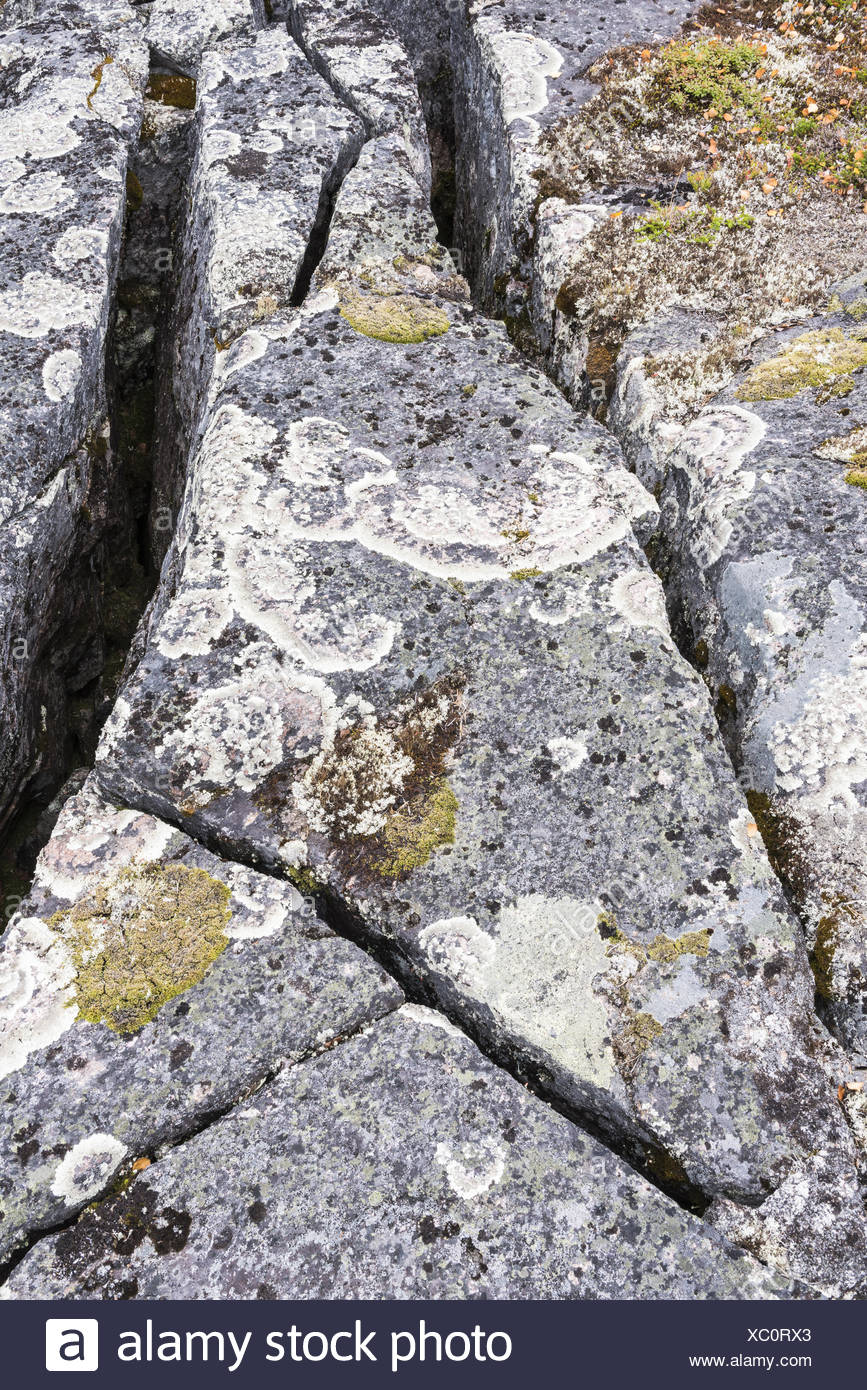 crevices, Lapland, Sweden Stock Photo